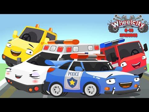 Wheelcity - Ambulance LILA Police Car Flash Catching Cars New Kids Video - Episodes #6-10