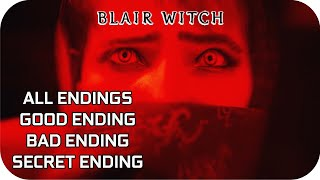 BLAIR WITCH All Endings Cutscenes GOOD ENDING, BAD ENDING, SECRET ENDING