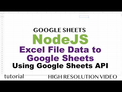 Import Excel Data to Google Sheets Automatically Using