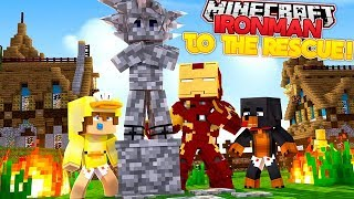 IRONMAN TRIES TO SAVE GOKU FROM DRAGON BALL Z - Minecraft Adventure