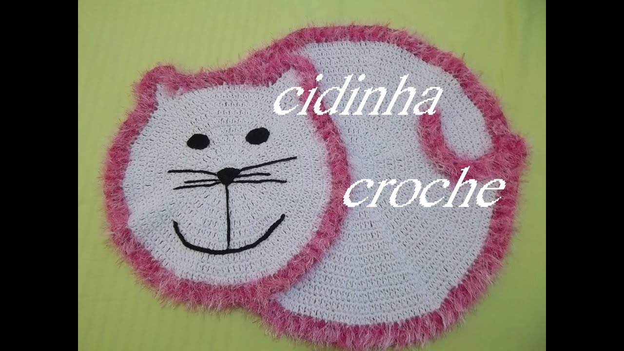 Croche Tapete Gatinha Tutorial Completo   #7D334C 1280 960