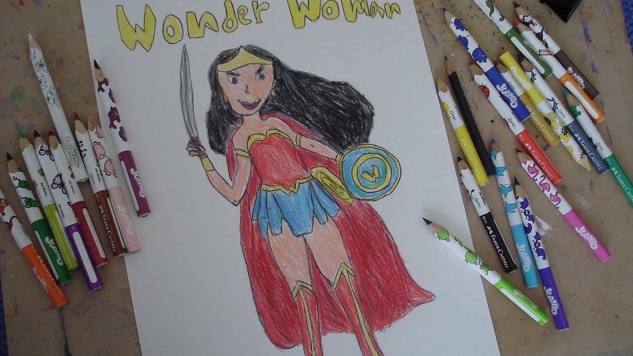 Dibujos De La Mujer Maravilla Para Colorear E Imprimir: Cómo Dibujar A Mujer Maravilla. Dibujo De Wonder Woman