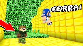FUJA DOS CREEPERS MAIS DOIDO DO MUNDO!! (MINECRAFT)