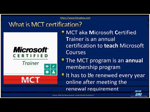 AzureTalk How to become MCT Microsoft Certified Trainer