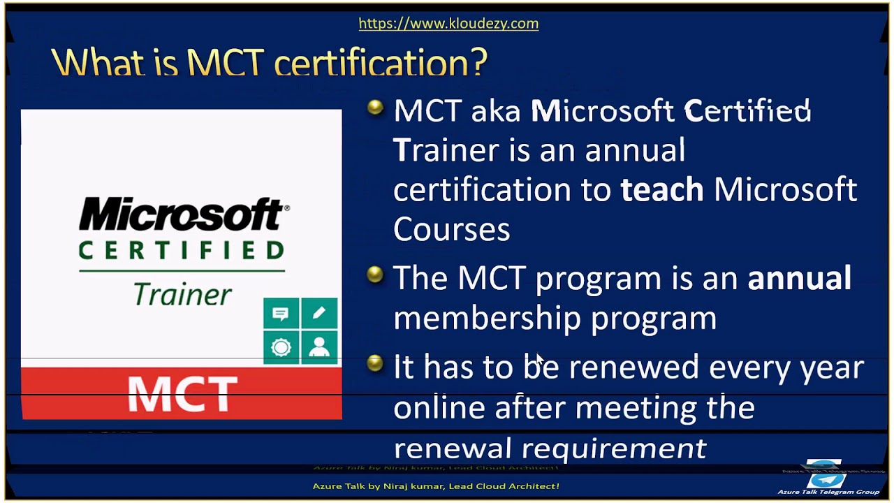 Azuretalk How To Become Mct Microsoft Certified Trainer Youtube