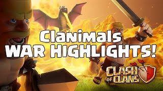 HOGOWIPE & GOWIWI 2.0 3 STARS! Win # 84 CLANIMALS WAR HIGHLIGHTS CLASH OF CLANS