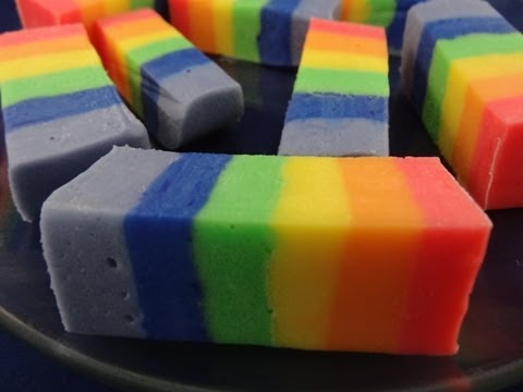 How To Make Rainbow Fudge - with yoyomax12