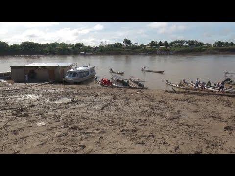 Com rápida vazante, nível do Rio Juruá reduz e chega a 6,60 metros