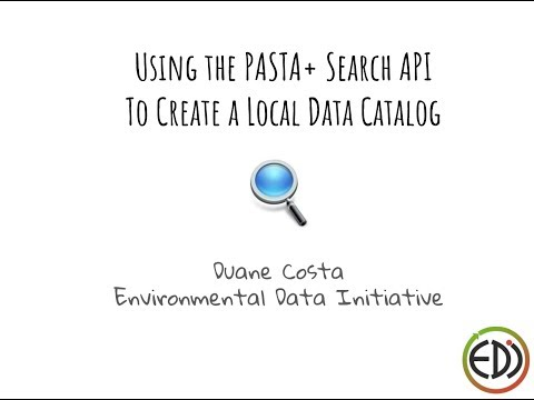 Create a local data catalog on your website