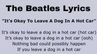 The Beatles - It's Okay to Leave A Dog in a Hot Car