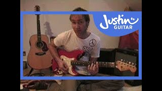 Open G Tuning (Songs Guitar Lesson RO-020) How to play