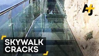 Tourists Scream As Glass Skywalk In China Cracks