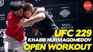 UFC 229: Khabib Nurmagomedov Full Open Workout + Argument With Conor McGregor Fans!