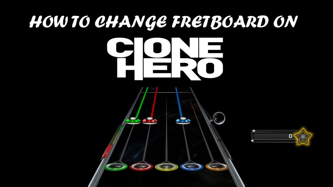 How To Change The Fretboard On Clone Hero (Link In Description)