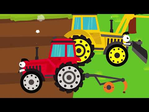 Let's go to the FARM | TRACTOR | FORKLIFT | WINDMILL | COW | SHEEP | JustBaby