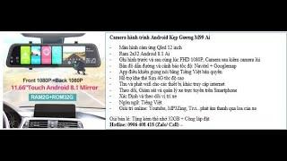 Camera hành trình android gương 12inch 4G ADAS GPS New 2021
