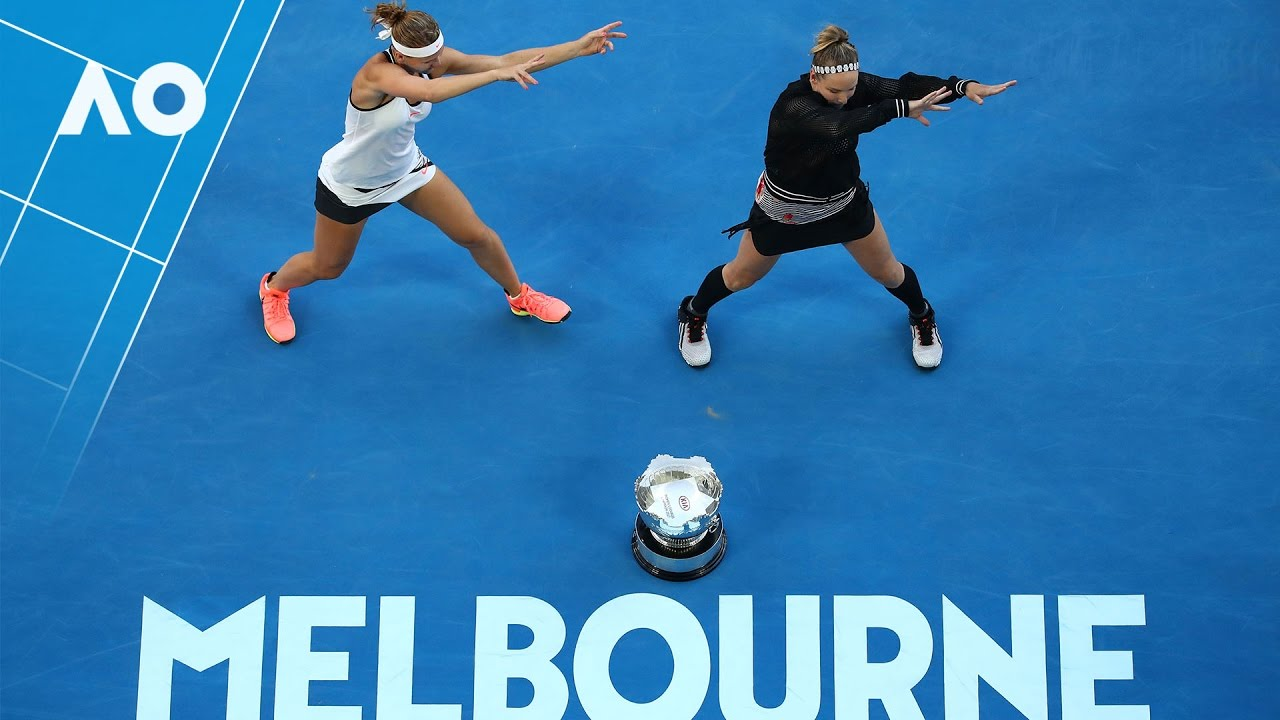 Bethany Mattek-Sands and Lucie Safarova victory dance | Australian Open 2017