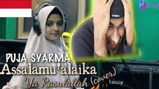 PUJA SYARMA - Assalamu'alaika (Cover)   INDIAN REACTION TO INDONESIAN VIDEO
