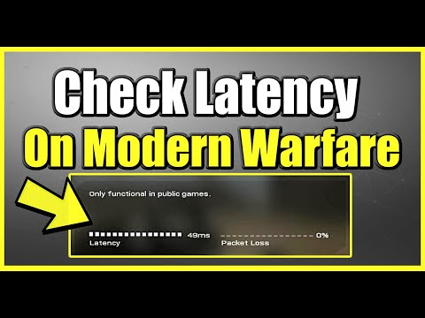 How To Check Latency Or Ping In Call Of Duty Modern Warfare Or Warzone (Fast Method)(CHECK LAG)