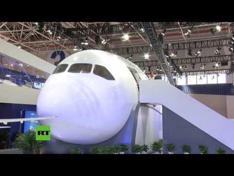 Nuevo avión de pasajeros creado entre Rusia y China es presentado en el show aéreo de Zhuhai