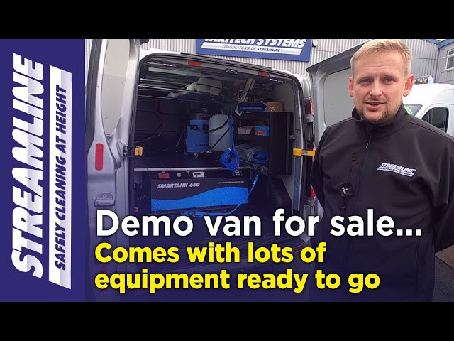 Our demonstration window cleaning van is for sale with various equipment, ready to go!