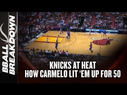 NBA 2013: How Carmelo Scored 50 Points Vs the Miami Heat