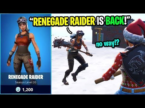 I told kids RENEGADE RAIDER is BACK in the item shop in Fortnite... (I LIED!)