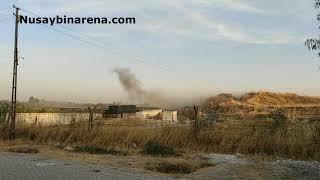 Kamışlı'dan atılan roketler Nusaybin'e isabet etti