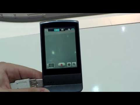Samsung P300 Point and Shoot Camcorder Hands On - German