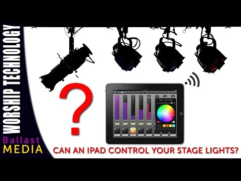 Can an iPad control your stage lights?