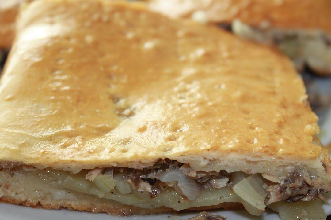 Пирог с сайрой и картофелем новые фото