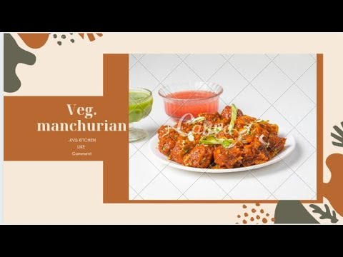 Veg Manchurian with spring onion