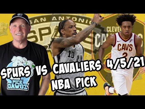 San Antonio Spurs vs Cleveland Cavaliers 4/5/21 Free NBA Pick and Prediction NBA Betting Tips