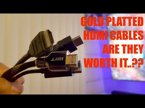 Gold platted 18Gbps HDMI Cable for 4k HDR Gaming does it make a difference.!?