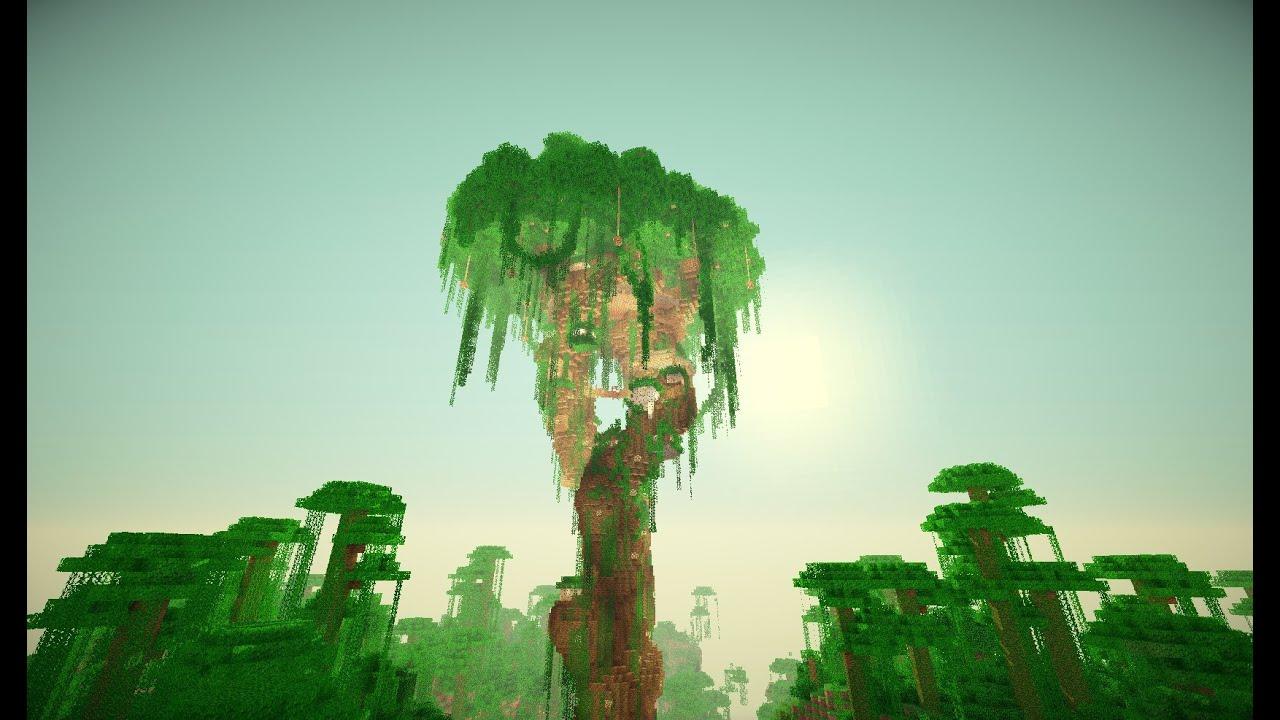 Minecraft Massive Jungle Tree Village (Cinematic) - YouTube