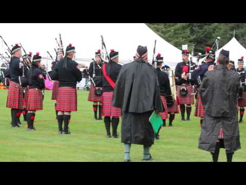 Calgary Police service pipe band Canmore 2016
