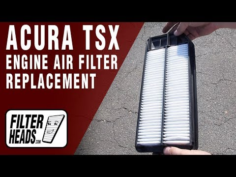 How to Replace Engine Air Filter 2006 Acura TSX L4 2.4L