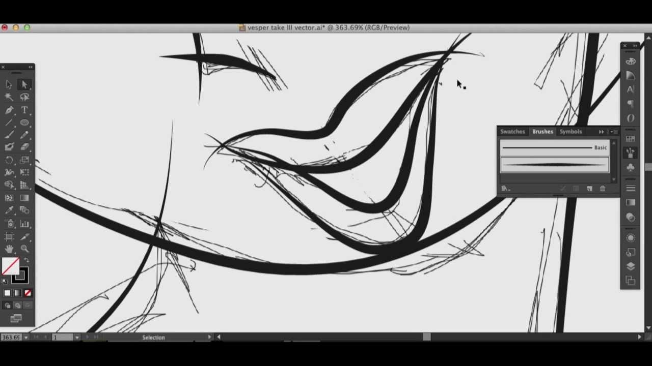 Illustrator Ink Brush Time Lapse