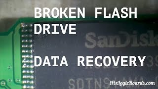 Broken flash drive data recovery - transferring nand to donor board.