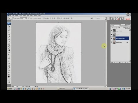 Cara Membuat Efek Sketsa Pada Photoshop Cs3 Youtube