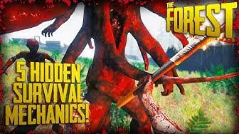 5 HIDDEN SURVIVAL MECHANICS!   The Forest