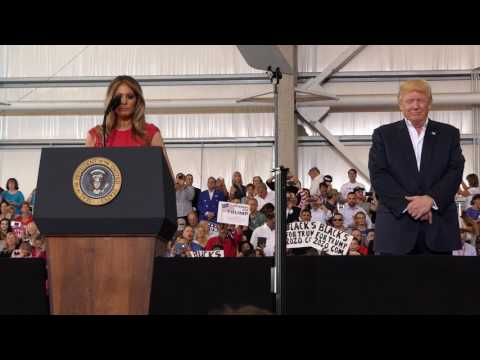 First Lady Melania Trump Recites The Lord