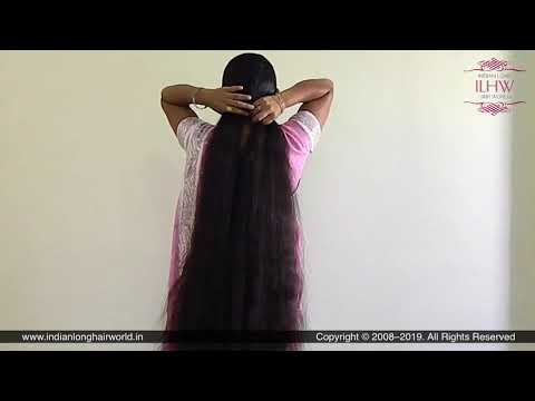 ILHW Rapunzel Jyoti's Hair Brushing & Elegant Hair Braiding With Knee Length Mane.