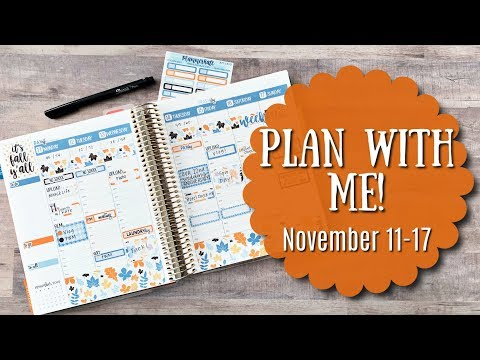 PLAN WITH ME! | November 11-17 | Erin Condren Life Planner