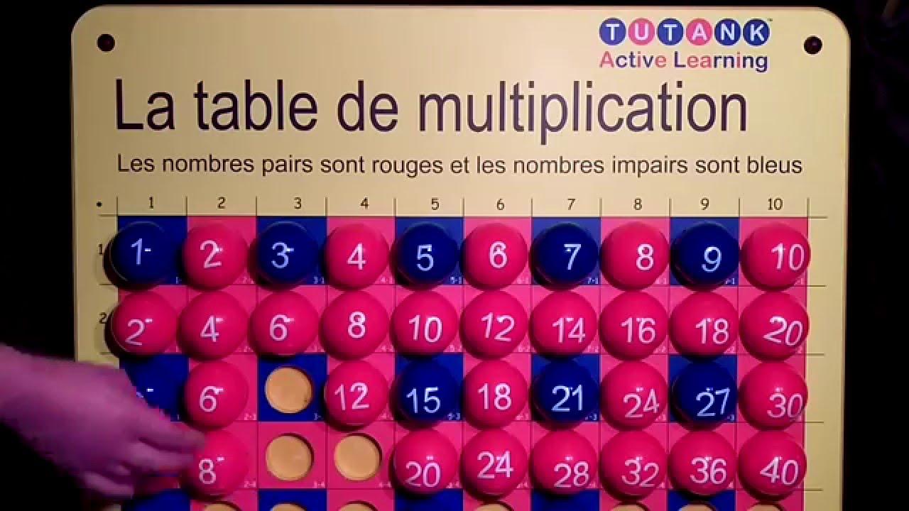 La table de multiplication avec tutank active learning - Youtube table de multiplication ...