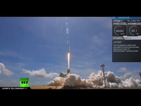 SpaceX launches Bulgarian satellite on recycled rocket
