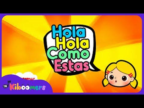 Hola Hola cómo estás | Canciones para niños | Infantiles | Aprender | The Kiboomers