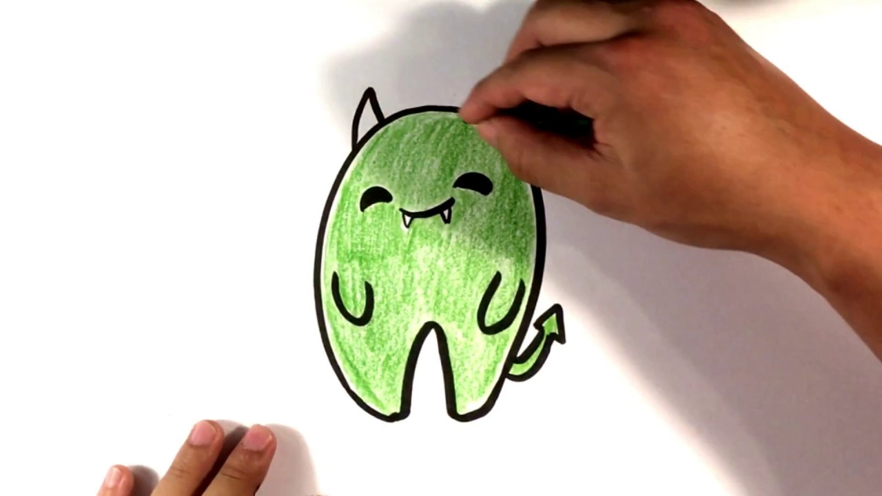 How To Draw A Demon Cute Halloween Drawings Youtube