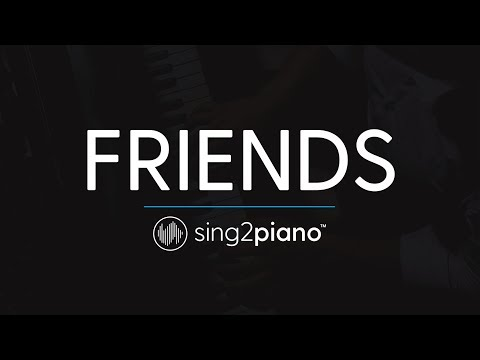 FRIENDS (Piano Karaoke Instrumental) Marshmello & Anne-Marie