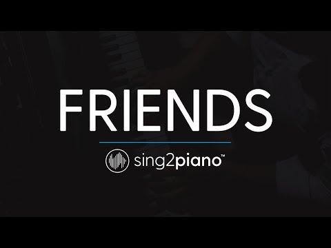 FRIENDS (Piano Karaoke Instrumental) Marshmello & Anne-Marie